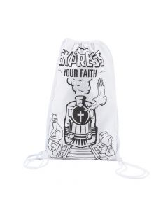 Color Your Own Railroad VBS Medium Drawstring Bags
