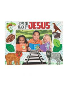 Color Your Own Railroad VBS Picture Frame Magnets