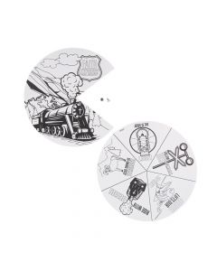 Color Your Own Railroad VBS Wheels