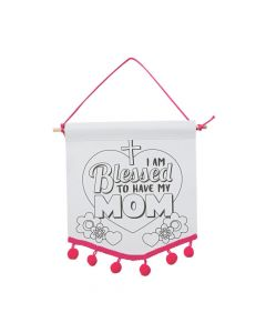 Color Your Own Religious Mother's Day Pom-Pom Banners