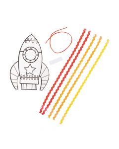 Color Your Own Rocket Craft Kit