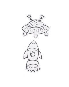 Color Your Own Space Magnets