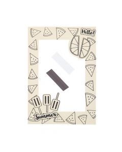 Color Your Own Summer Picture Frame Magnets
