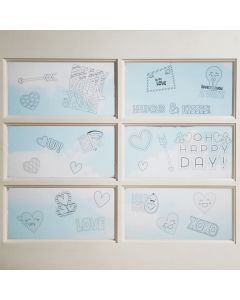 Color Your Own Valentine Window Clings