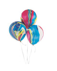 """Colorful Marble 11"""" Latex Balloons"""