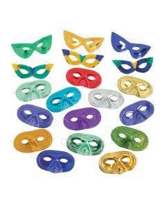 Colorful Mardi Gras Mask Assortment