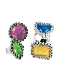 Colorful Rhinestone Rings