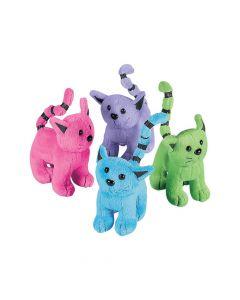 Colorful Stuffed Cat Assortment