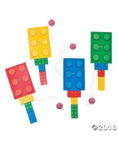 Colour Brick Party Paddleball Games