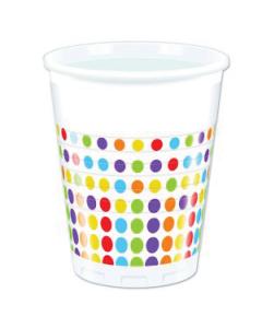 Bright Colour Polka Dot Plastic Cup