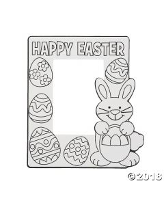 Colour Your Own Easter Picture Frames