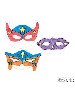 Colour Your Own Superhero Masks