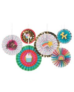 Confetti Party Hanging Fans