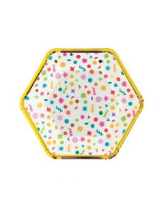 Confetti Party Paper Dinner Plates