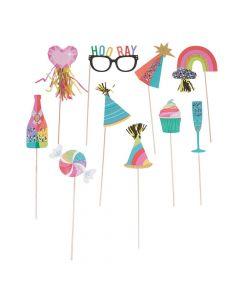 Confetti Party Photo Stick Props