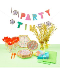 Confetti Party Tableware Kit for 24 Guests