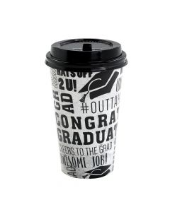 Congrats Grad Coffee Paper Cups with Lids