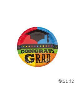 Congrats Grad Paper Dessert Plates