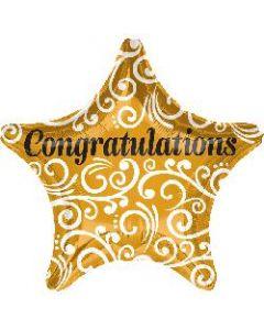 Congrats Sophisticated Star Foil Balloon