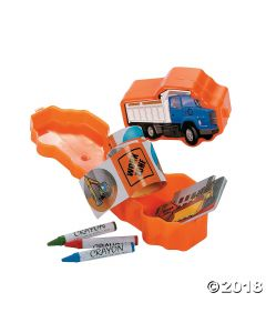 Construction Truck Stationery Pre-filled Favor Containers