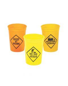 Construction VBS Plastic Tumblers
