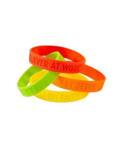 Construction VBS Silicone Bracelets