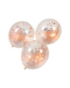 """Copper Foil Confetti 12"""" Latex Balloons"""