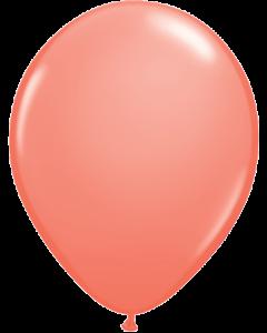 Coral 27cm Round Latex Balloon