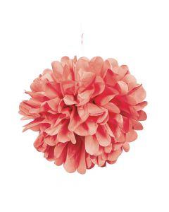 Coral Tissue Pom-Poms