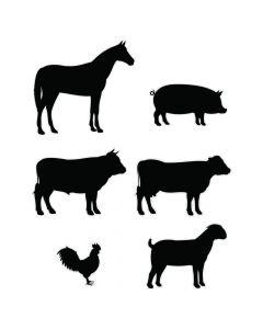County Fair Animal Silouhette Cutouts