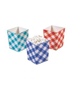 County Fair Gingham Popcorn Boxes