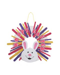 Craft Stick Easter Wreath Craft Kit