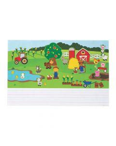 Create and Write Farm Sticker Scenes
