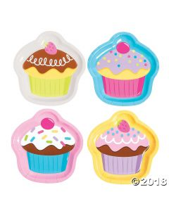 Cupcake Party Dessert Paper Plates