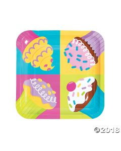 Cupcake Party Lunch Paper Plates