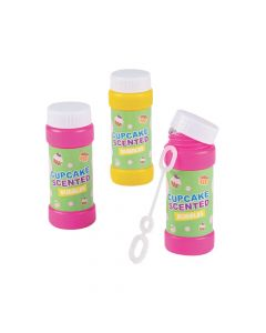 Cupcake Scented Bubble Bottles