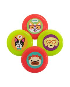 Cute Dog Party Mini Flying Discs