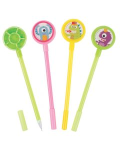 Cute Monster Pens with Noisemaker Topper