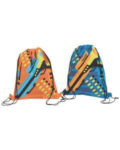 Dart Battle Large Drawstring Bags
