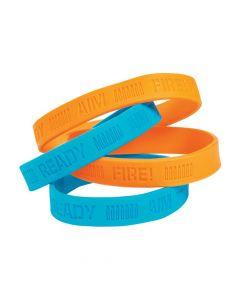 Dart Battle Party Rubber Bracelets