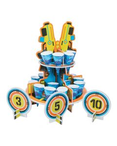 Dart Battle Party Treat Stand with Cones