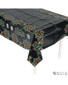 Day of the Dead Plastic Tablecloth
