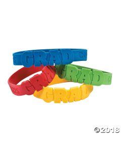 Die Cut Graduation Rubber Bracelets