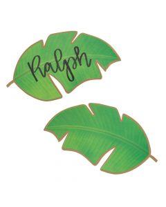 Die-Cut Palm Leaf Place Cards