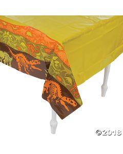 Dino Dig Plastic Tablecloth