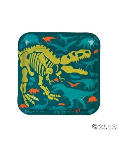 Dino Dig Square Paper Dinner Plates