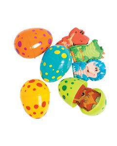 Dino Finger Puppet-Filled Plastic Easter Eggs