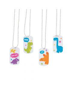 Dinosaur Dog Tag Necklaces