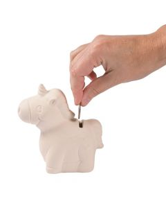 DIY Ceramic Unicorn Banks