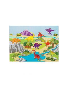 DIY Dinosaur Sticker Scenes